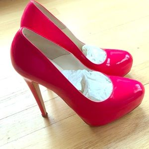 Brian Atwood maniac size 37.5 bright neon pink